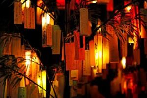 七夕飾り灯篭